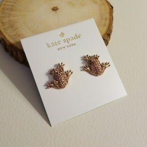 Kate spade pave frog earrings
